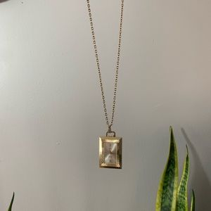 Vintage Heritage Swiss Made Clock Necklace